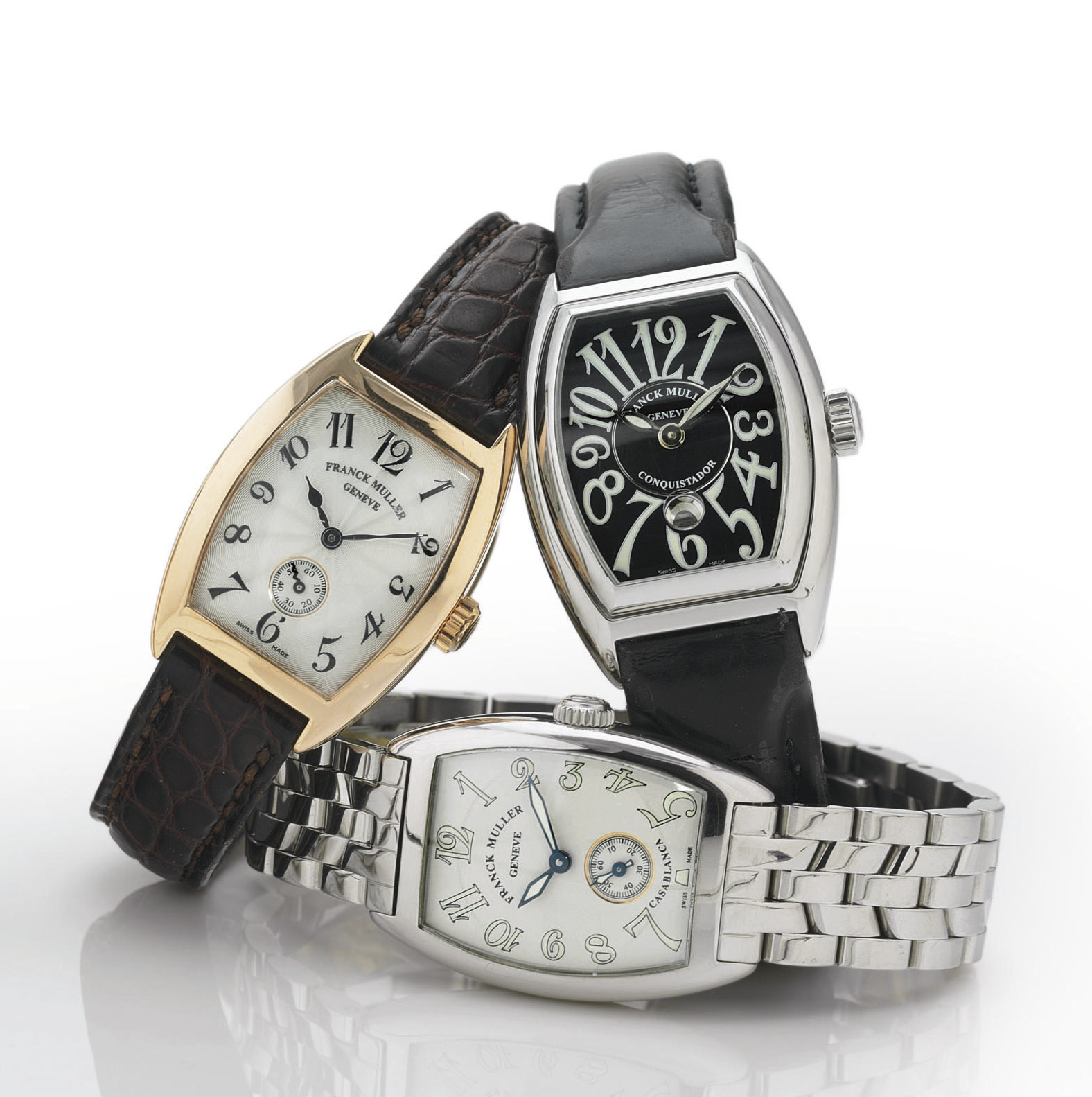 FRANCK MULLER. A GROUP OF THRE