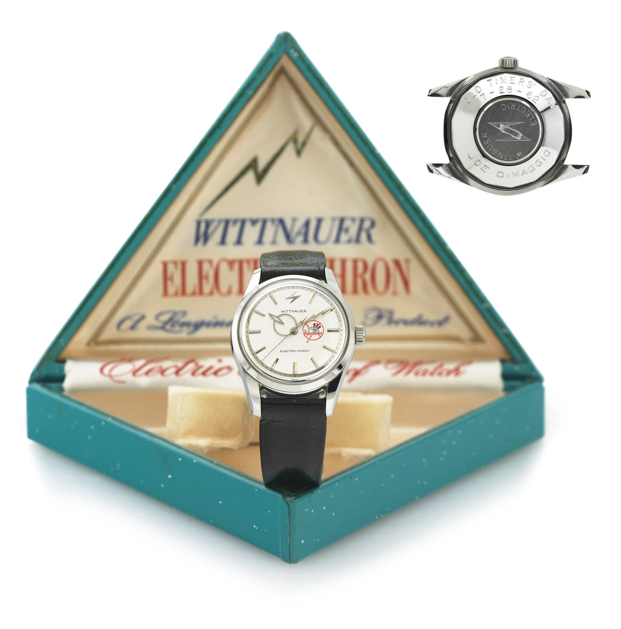 WITTNAUER.  A FINE AND HISTORICALLY IMPORTANT STAINLESS STEEL WRISTWATCH WITH CENTER SECONDS