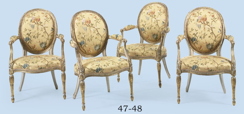 A PAIR  OF GEORGE III WHITE-PA