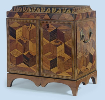 A REGENCY YEW-WOOD AND SPECIME