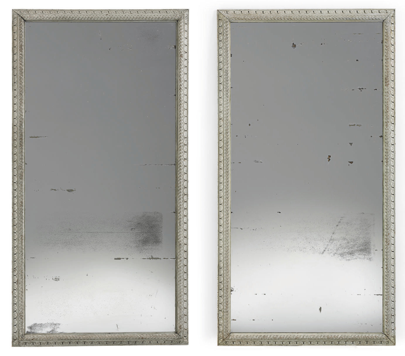A PAIR OF CREAM AND GREY-PAINT