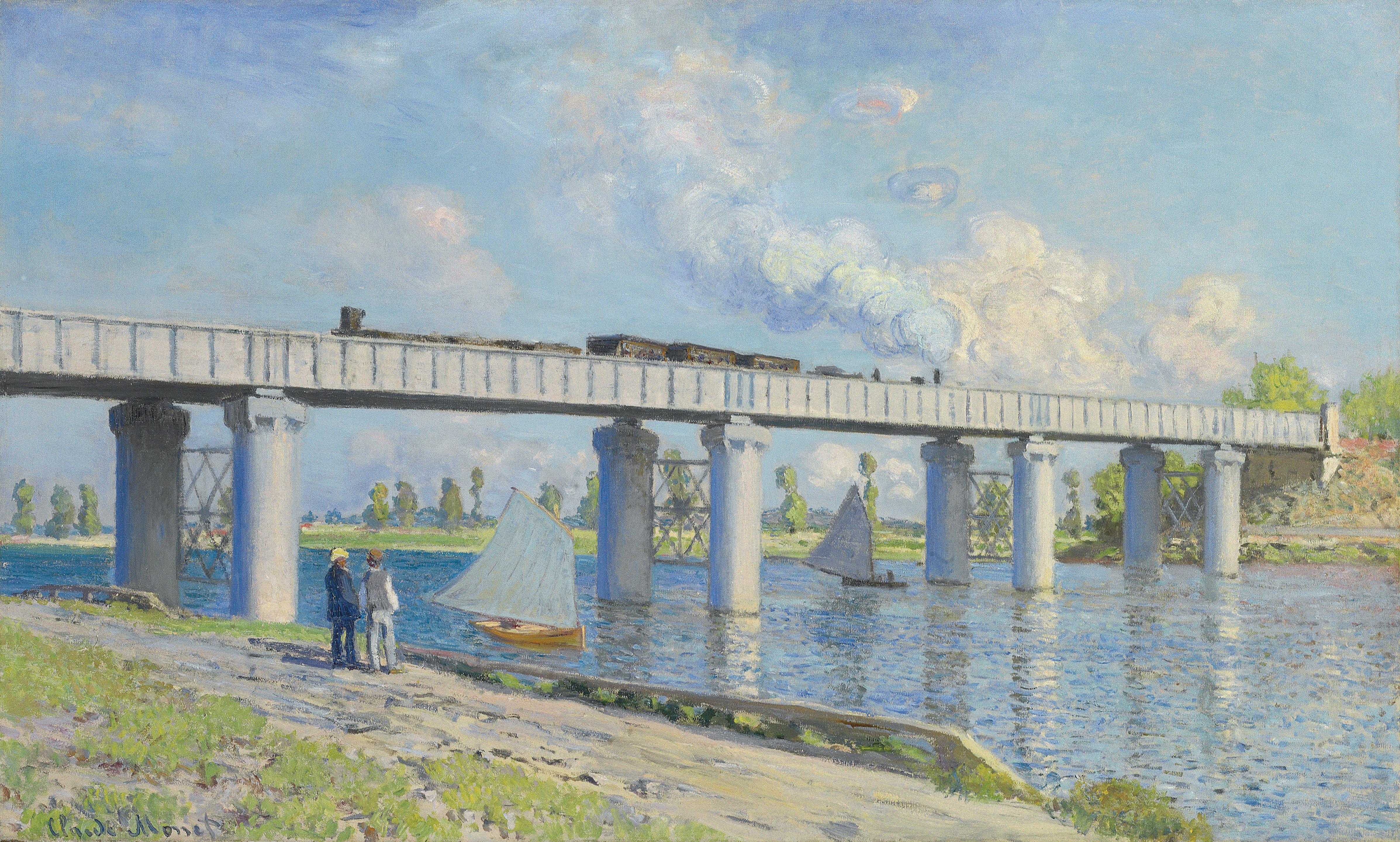 Le Pont du chemin de fer à Argenteuil