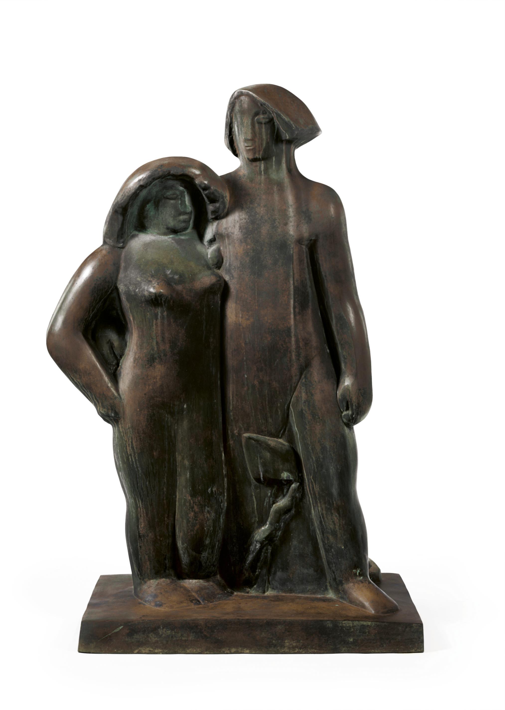 Adam et Eve (variante, grand modèle)
