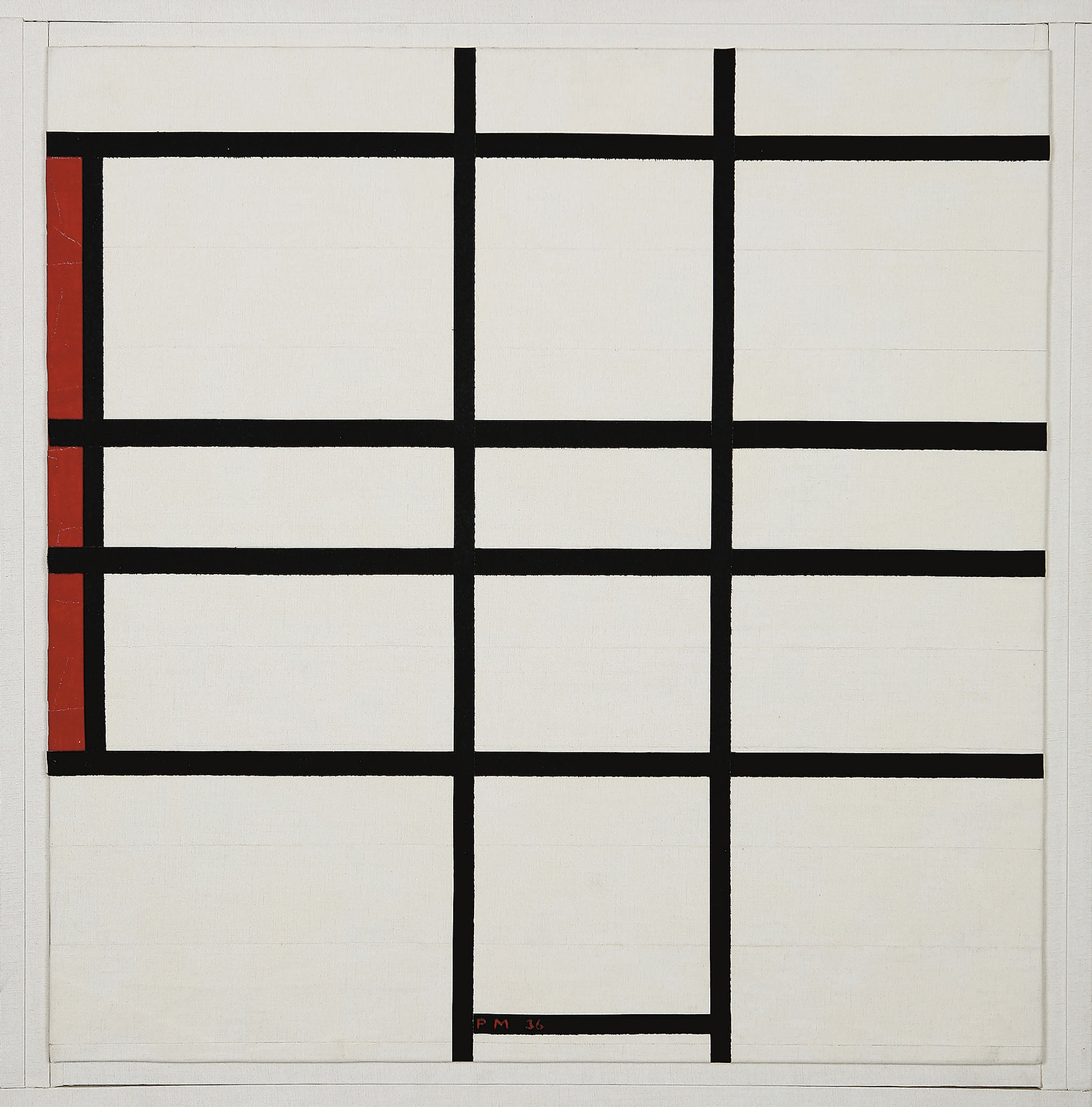 145 Composition B; Composition Blanc Et Rouge (Composition white and red) 1936