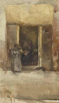 Figures in a Doorway