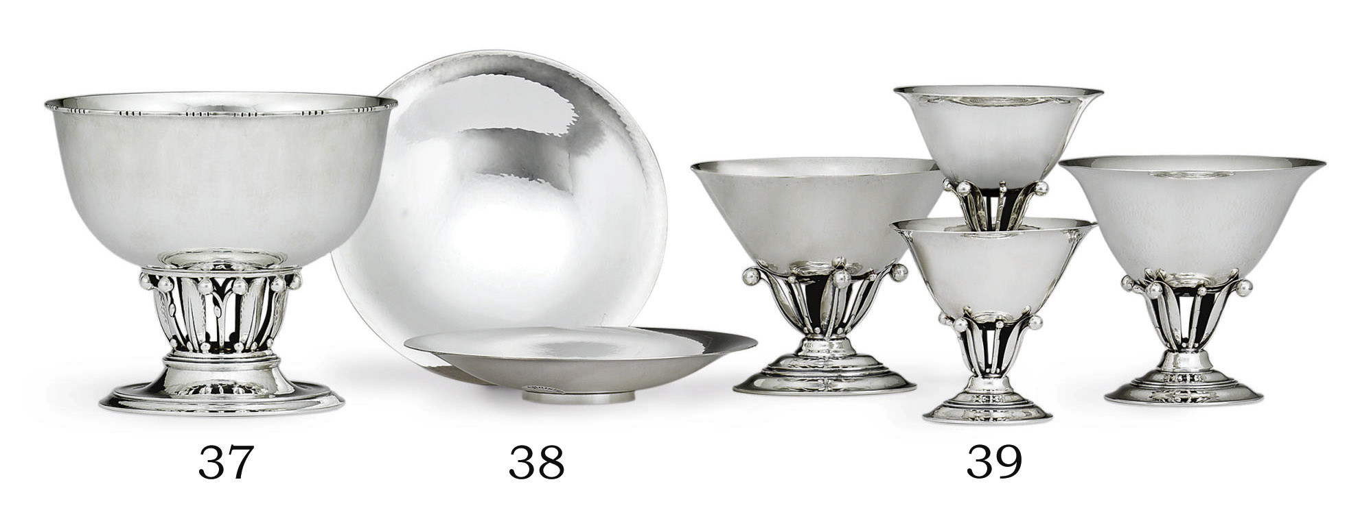 A PAIR OF DANISH SILVER DISHES