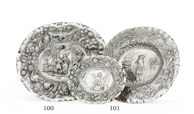 TWO GERMAN SILVER PLAQUES