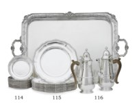 A GEORGE VI SILVER TWO-HANDLED TEA TRAY