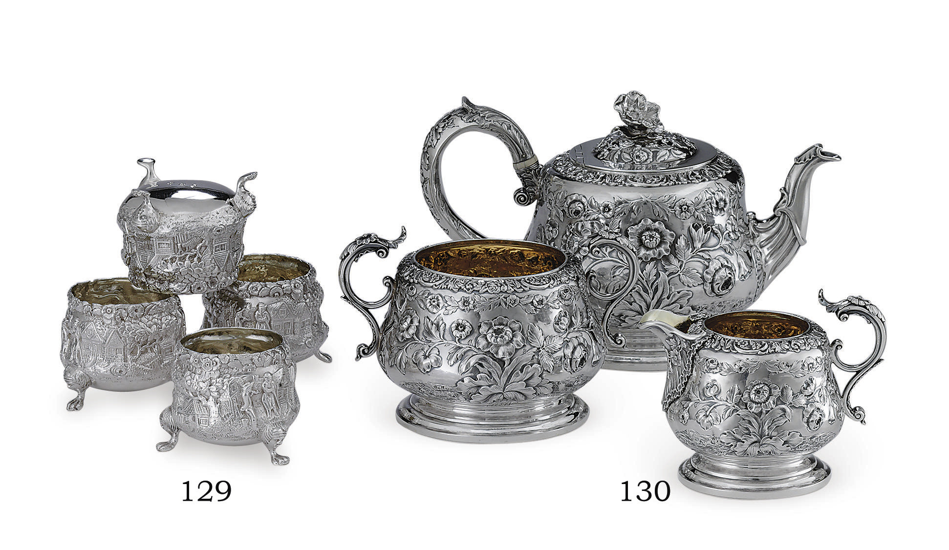 A GEORGE IV SILVER THREE-PIECE