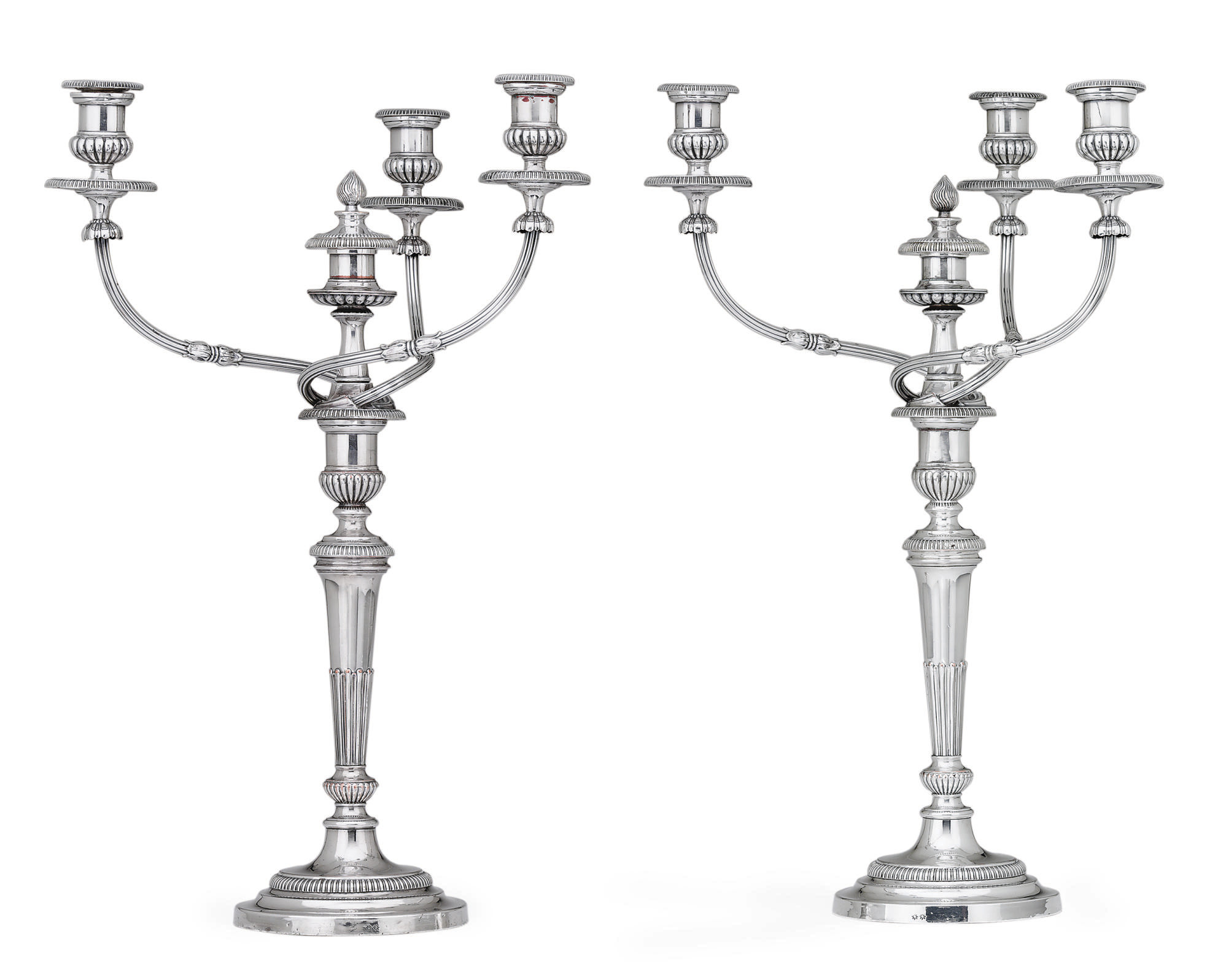 A PAIR OF REGENCY SHEFFIELD-PL