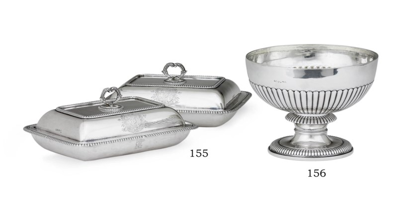 A PAIR OF GEORGE III SILVER EN