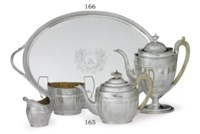 A GEORGE III SILVER TEA TRAY