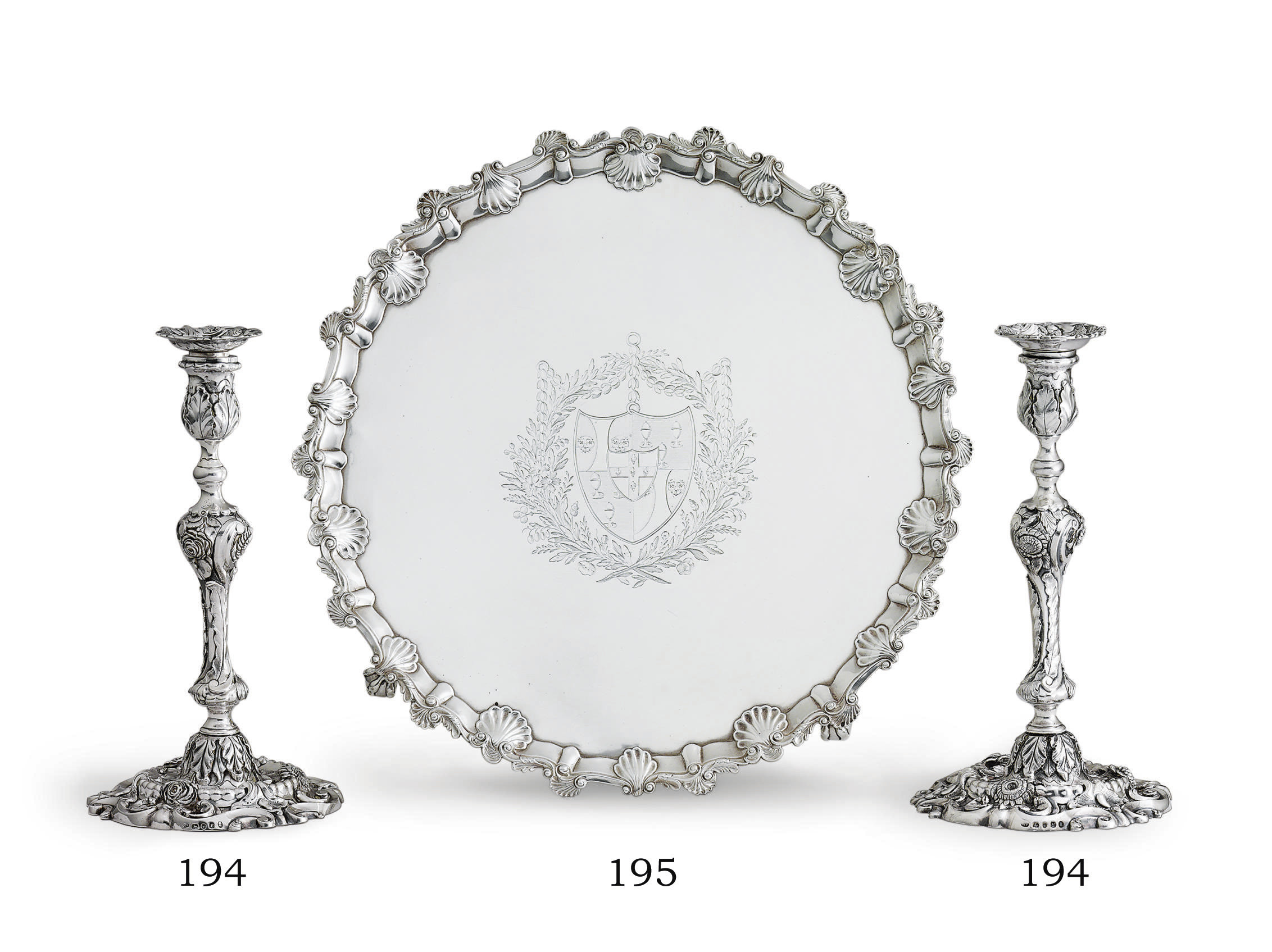 A PAIR OF REGENCY SILVER CANDLESTICKS