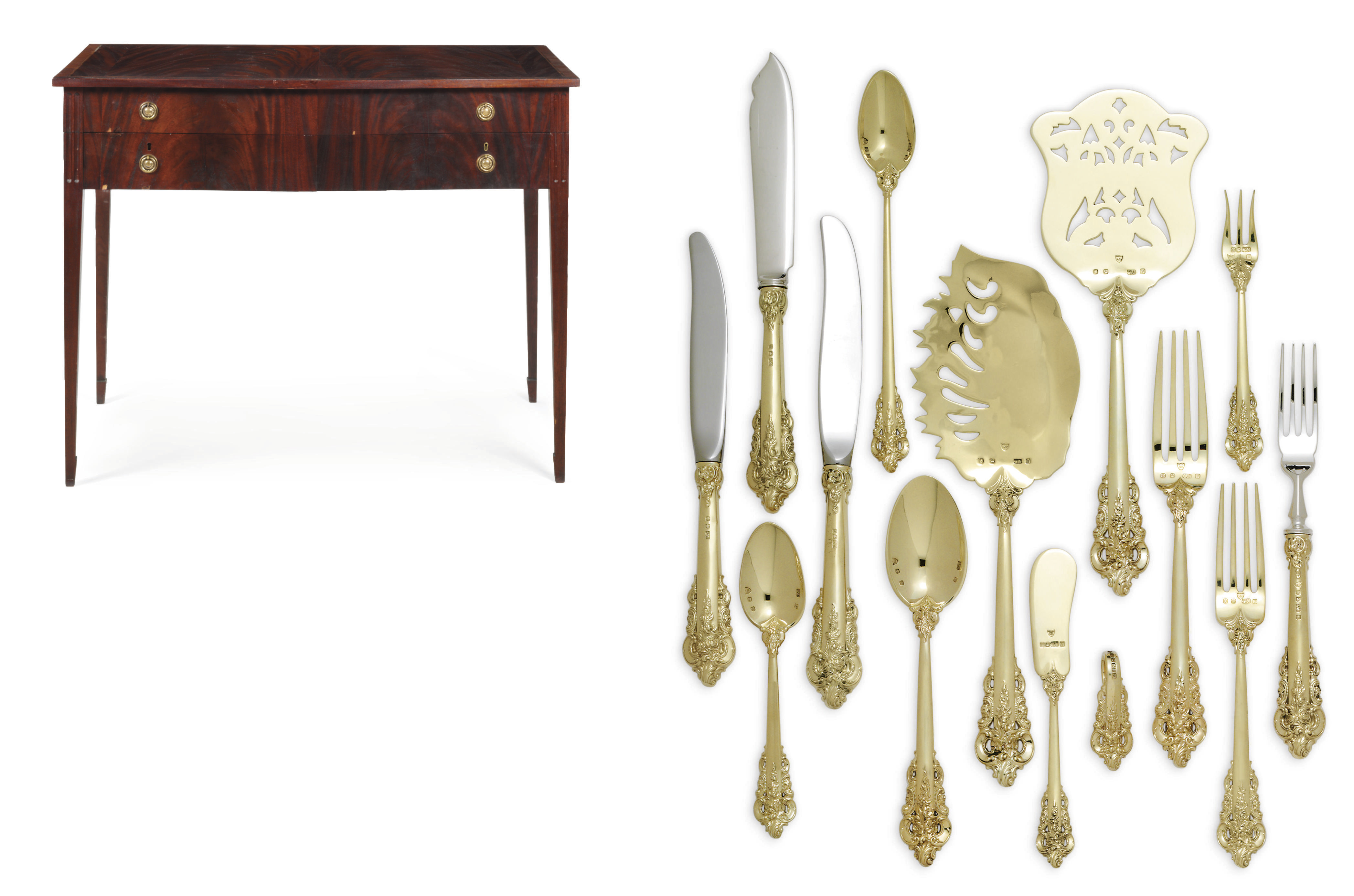 A GOLD TABLE SERVICE