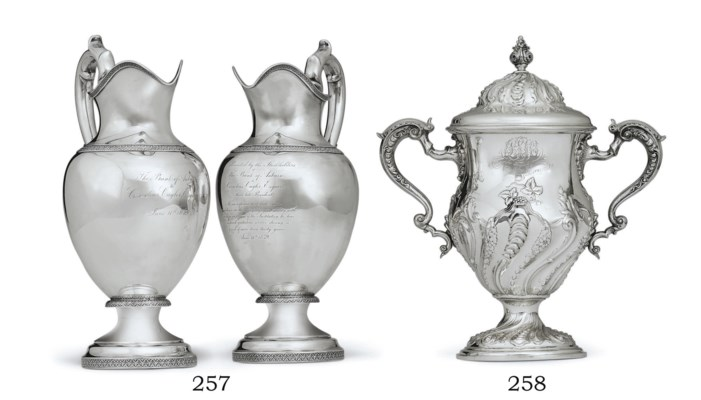 AN AMERICAN SILVER CUP AND COV
