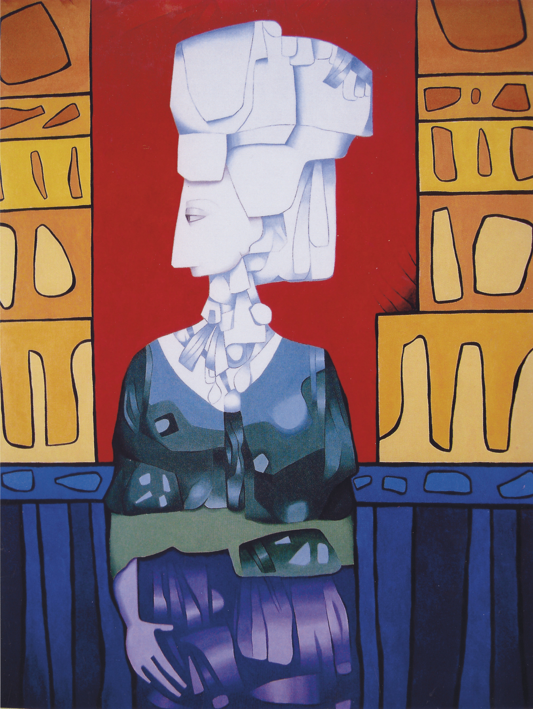 Mujer multicolor