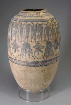 AN EGYPTIAN PAINTED POTTERY JA
