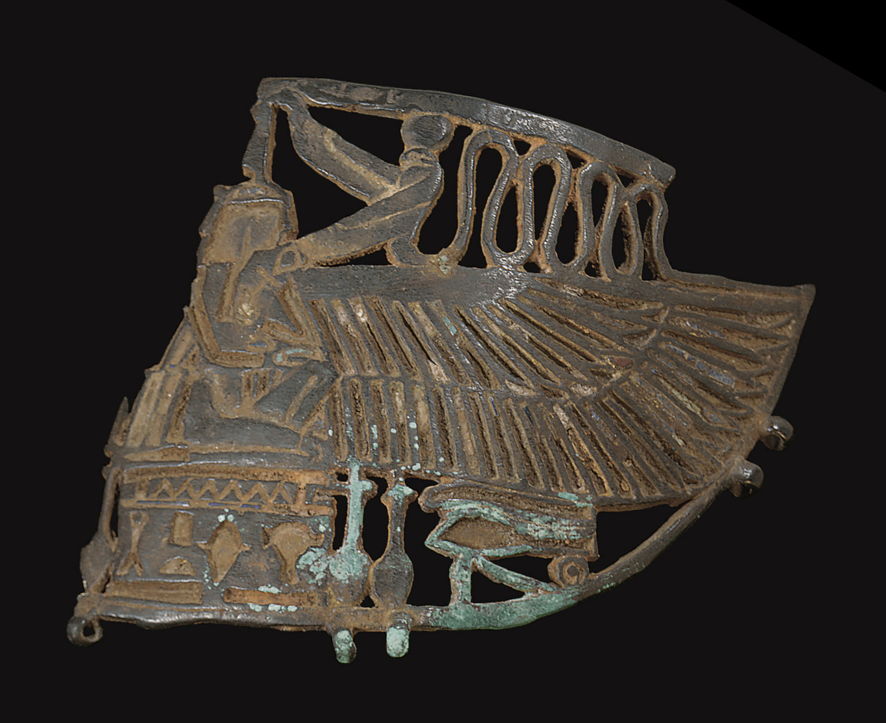 AN EGYPTIAN FRAGMENTARY BRONZE