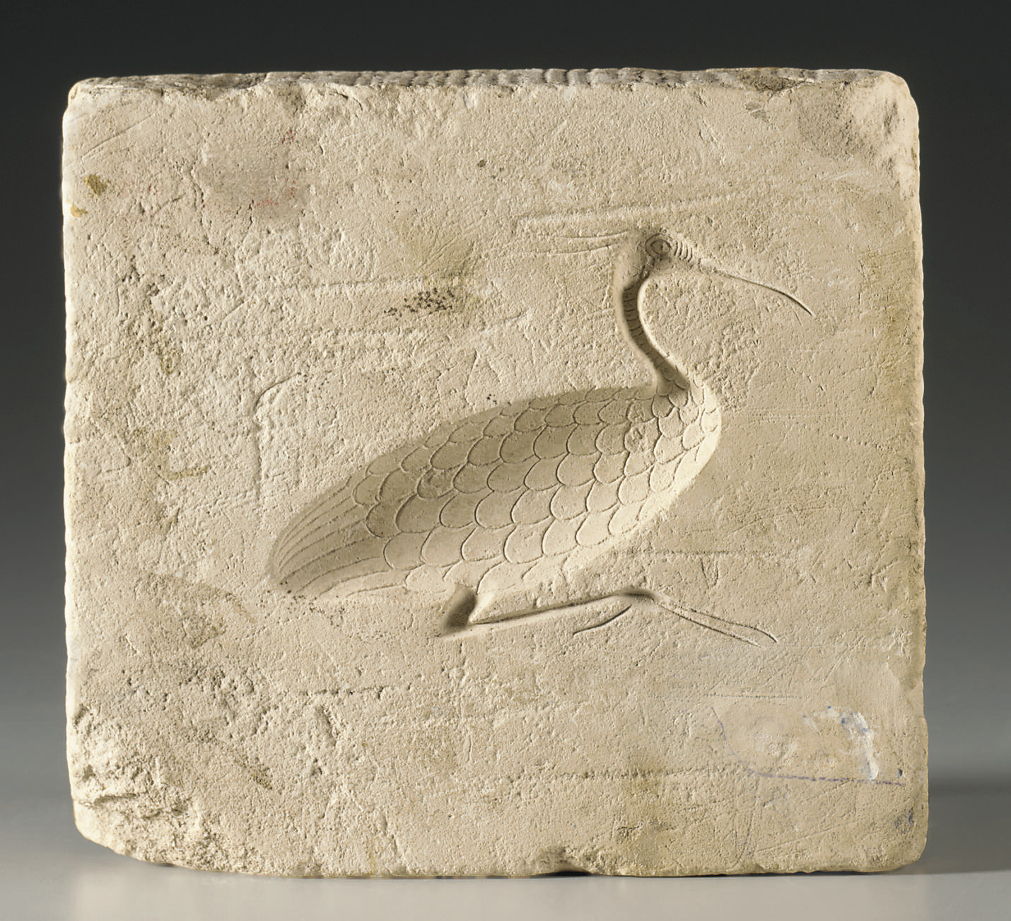 AN EGYPTIAN LIMESTONE MOLD