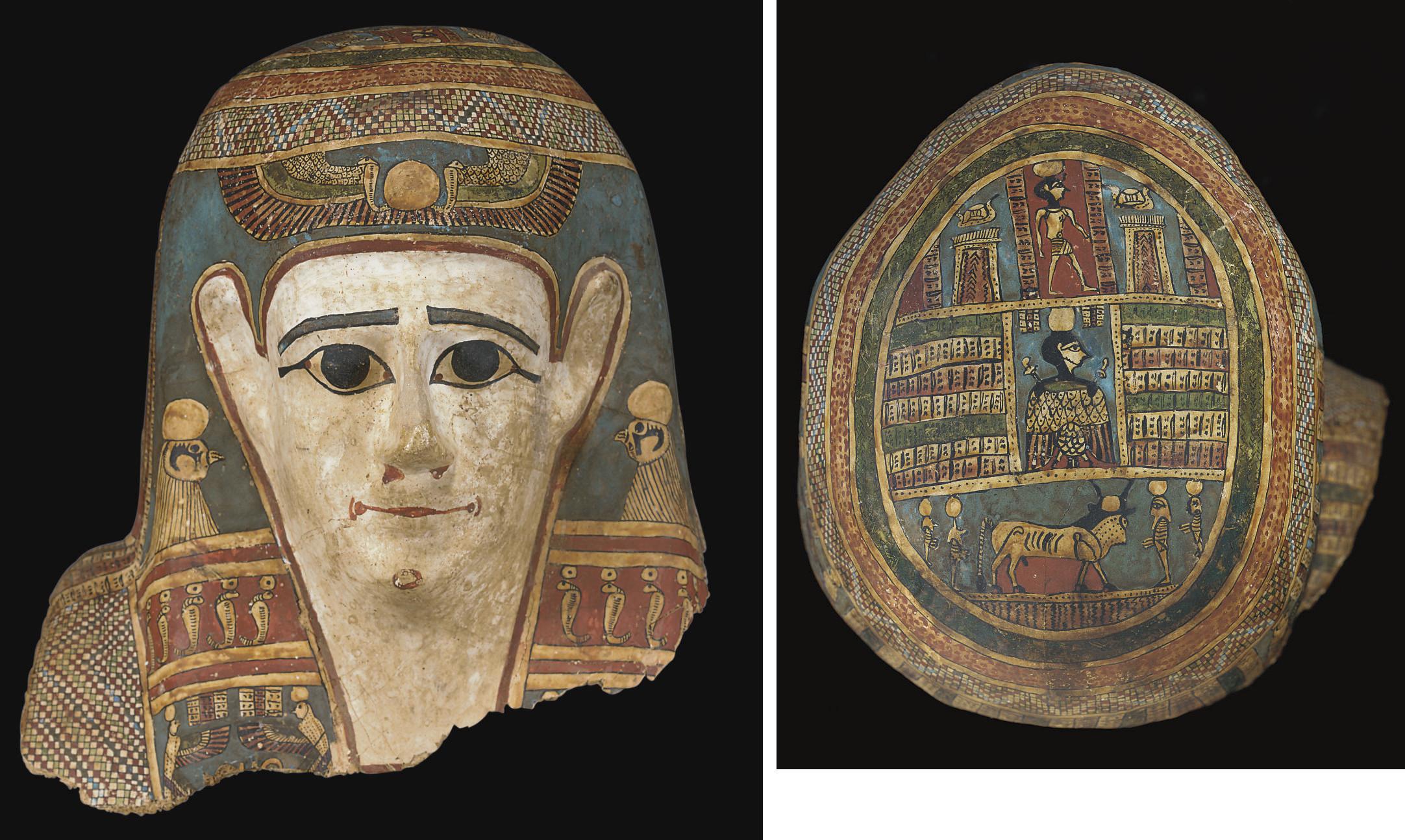 An Egyptian Cartonnage Mummy Mask Roman Period Circa