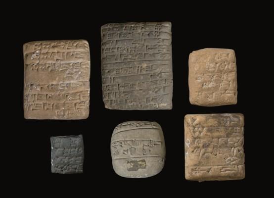 SIX MESOPOTAMIAN CUNEIFORM TAB