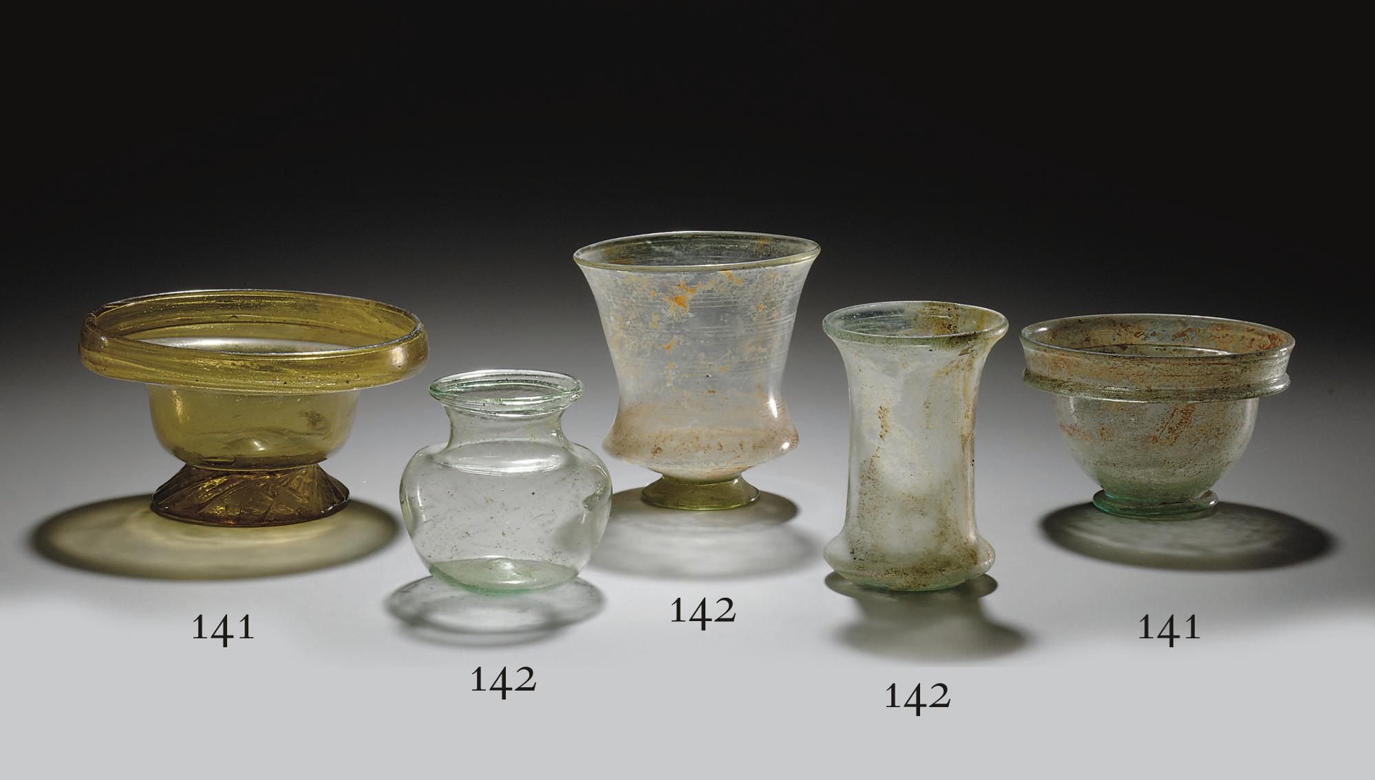 TWO ROMAN GLASS PATELLAE