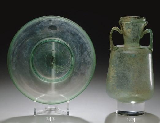 A ROMAN GLASS PLATE