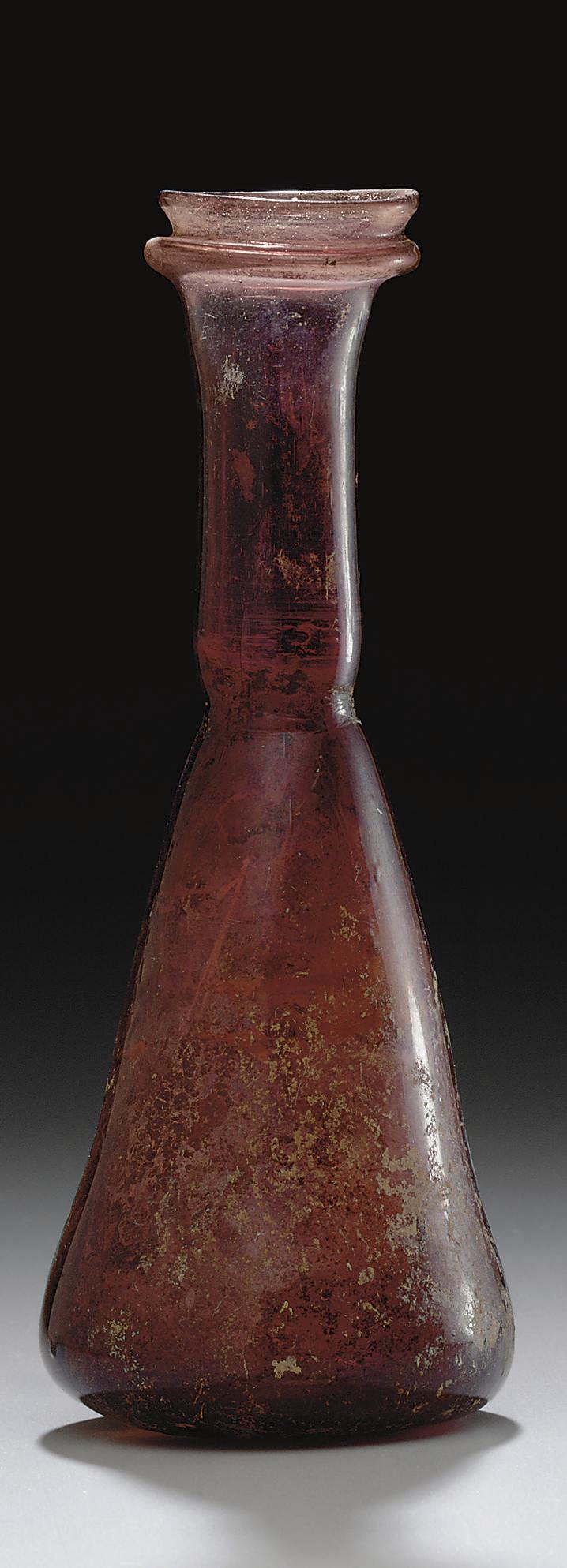 A ROMAN GLASS FLASK