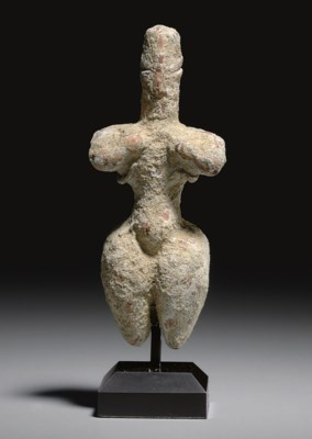 A GREEK TERRACOTTA STEATOPYGOU