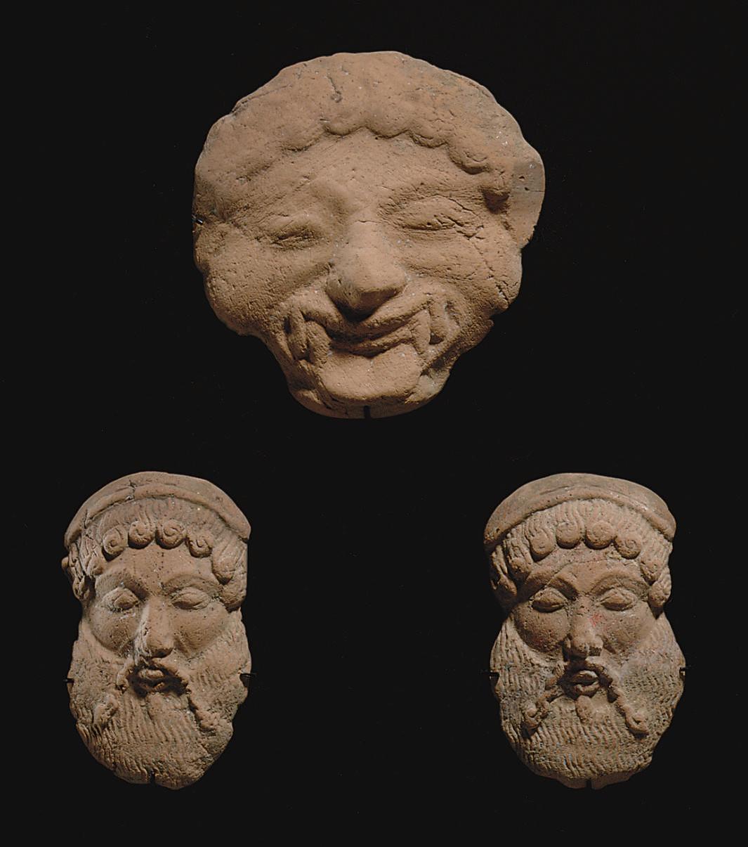 THREE GREEK TERRACOTTA APPLIQUÉS