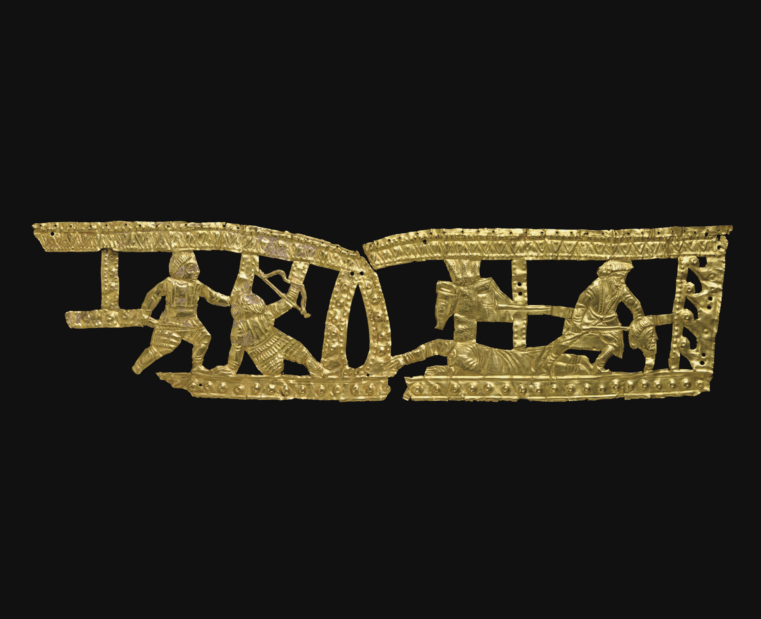 A SCYTHIAN GOLD OPENWORK PLAQU