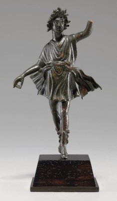 A ROMAN BRONZE DANCING LAR