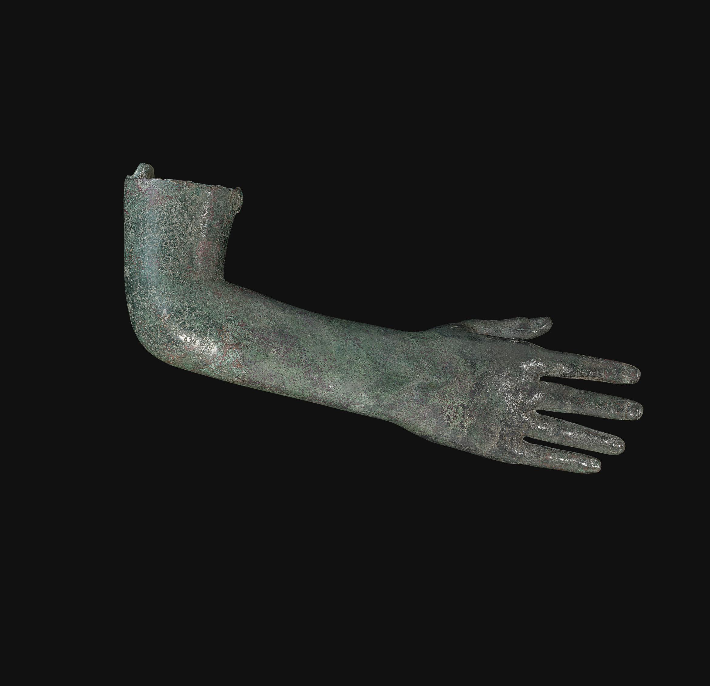 A ROMAN BRONZE RIGHT ARM