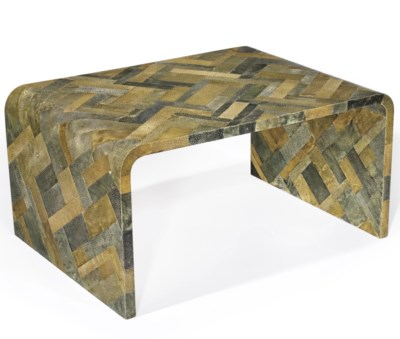 A Shagreen Patchwork Low Table