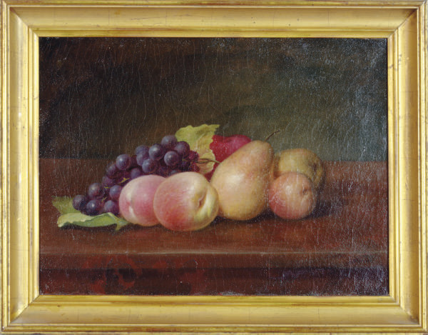 Still life with grapes, pears and peaches; and a companion painting