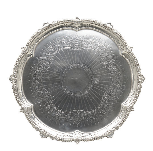 A VICTORIAN PIERCED AND CHASED