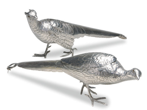 A PAIR OF AMERICAN SILVER PHEA