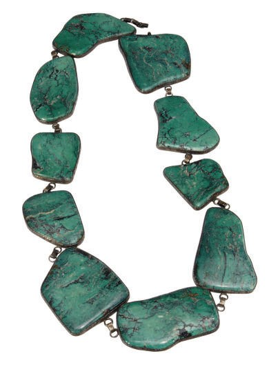 AN AMERICAN TURQUOISE AND SILV