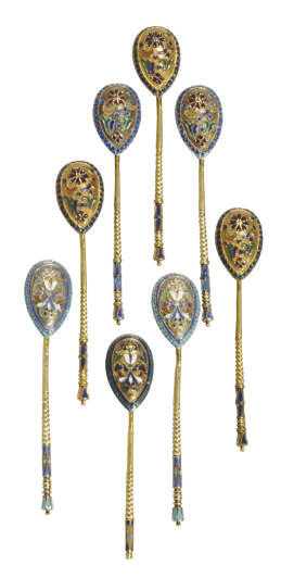 A GROUP OF THREE SILVER-GILT A
