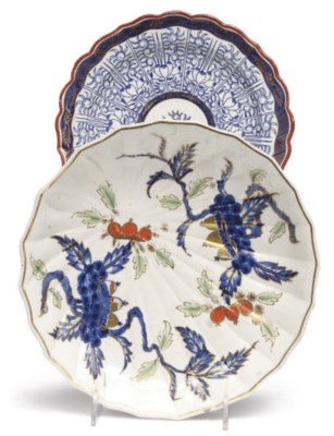 TWO ENGLISH PORCELAIN DISHES D