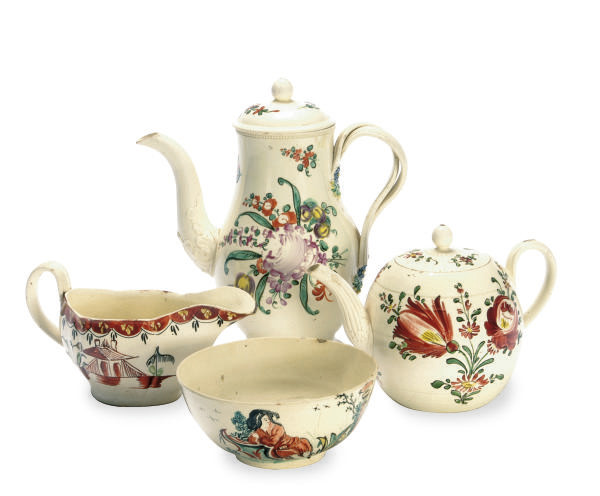 A GROUP OF STAFFORDSHIRE CREAM