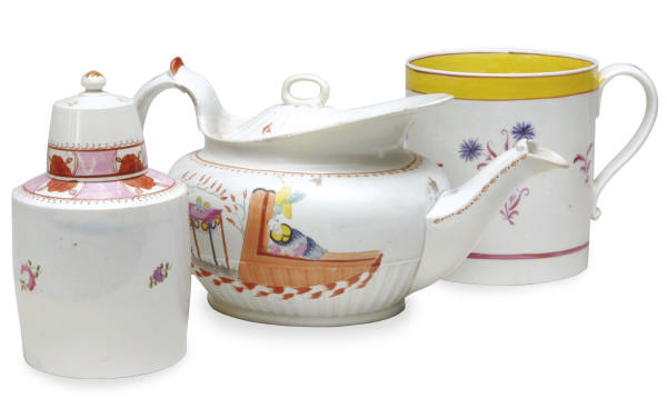A GROUP OF ENGLISH PEARLWARE T