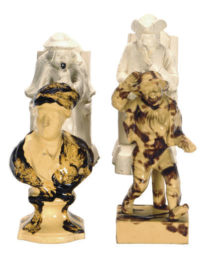 FOUR STAFFORDSHIRE FIGURES,