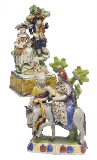 TWO STAFFORDSHIRE PEARLWARE BO
