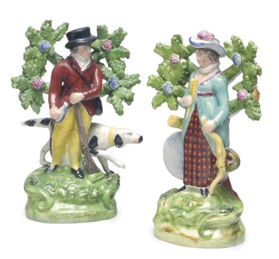 A PAIR OF STAFFORDSHIRE WALTON