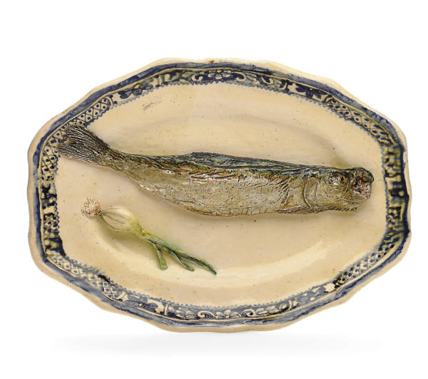 TWO FRENCH PALISSY-STYLE TROMP