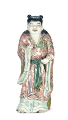 A JAPANESE PORCELAIN MODEL OF