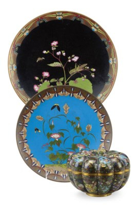 A GROUP OF CHINESE CLOISONNE E