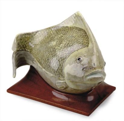 A JAPANESE PORCELAIN FISH-FORM