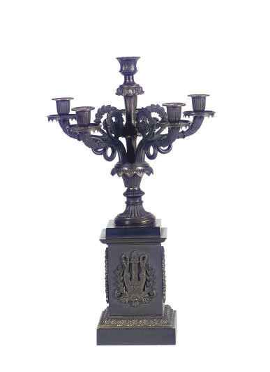 A FRENCH PATINATED AND GILT-ME